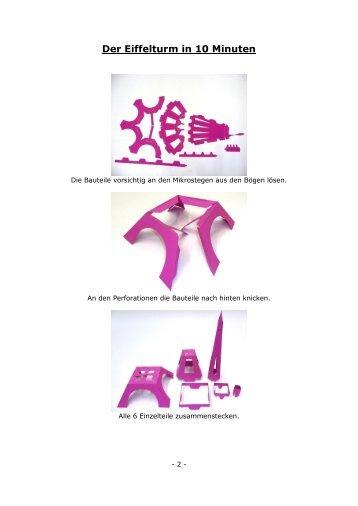 Der Eiffelturm in 10 Minuten - Euro_ShopDesign