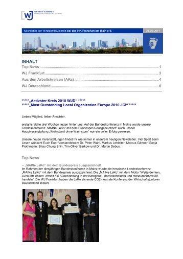 21.09.2011_Newsletter WJF - Wirtschaftsjunioren Frankfurt am Main
