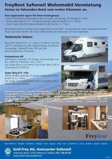 FreyRent Safenwil Wohnmobil-Vermietung - Emil  Frey AG