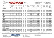 Yanmar Kunden-Preisliste 2011 - Emil Frey AG