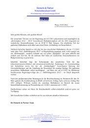 19. 03. 2012 - Allgemeine Klienteninformation - hamerle & partner