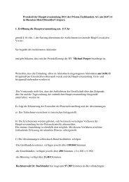 Protokoll HV 2011 - Prisma Fachhandels AG