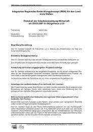 Integriertes Regionales Entwicklungskonzept ... - Region Gießen