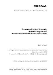 Demografischer Wandel: Auswirkungen auf die ... - crema