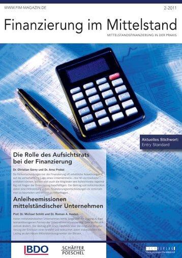 Finanzierung im Mittelstand - BDO