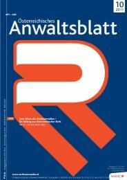 AnwBl_2011-10 399..442 - Österreichischer Rechtsanwaltskammertag