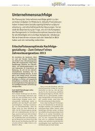 SPEZIAL Unternehmensnachfolge - Der Betrieb