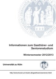 'Informationen zum Gasthörer- und Seniorenstudium' finden - koost ...