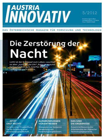 8. 11. 2012, Messe Wien, Halle A, Stand B.01 Sie ... - Austria Innovativ