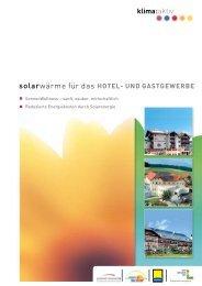 Hotel und Gastgewerbe - Austria Solar