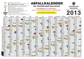 ABFALLKALENDER DER - in Gernsheim