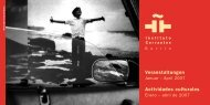 Veranstaltungen Actividades culturales - Instituto Cervantes Berlin