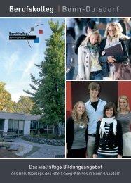 Das vielfältige Bildungsangebot - Berufskolleg Bonn-Duisdorf