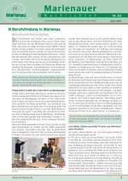 Marienauer Traditionen - Schule Marienau
