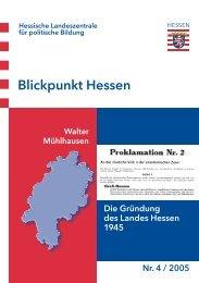 Blickpunkt Hessen - Hessische Landeszentrale für politische Bildung