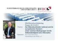 IHK-Bilanzbuchhaltertag Siegen 06.10.2011 Thema: Der ...