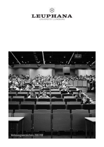 Vorlesungsverzeichnis 2007/08 - AStA