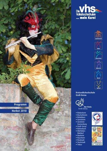 0 Umschlag vhs Herbst 2010:Layout 1 - Kreisvolkshochschule Groß ...