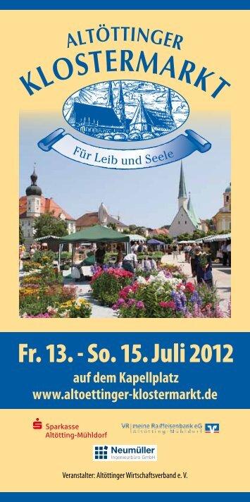 Fr. 13. - So. 15. Juli 2012 - Klostermarkt