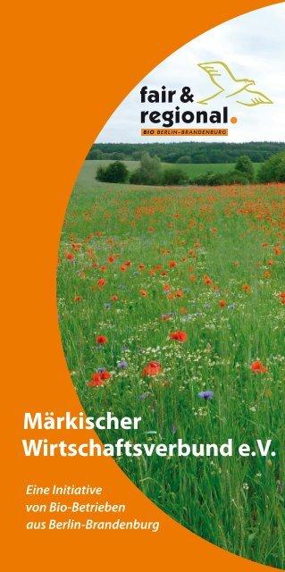Märkischer Wirtschaftsverbund e.V. - Märkisches Landbrot