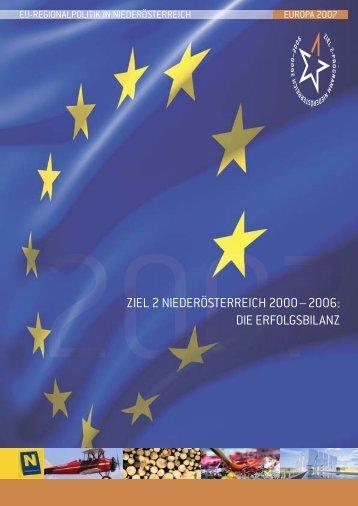 Ziel 2 - Raumordnung und Regionalpolitik