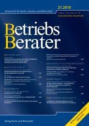 Zeitschrift für Recht, Steuern und Wirtschaft - honert + partner