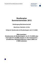 Studienplan Sommersemester 2012 - Hochschule Ingolstadt