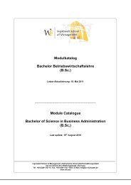 Module Catalogue Bachelor of Science - Katholische Universität ...