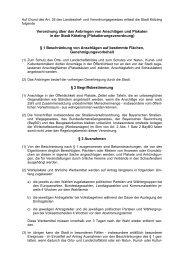 Verordnung über das Anbringen von Anschlägen und Plakaten in ...