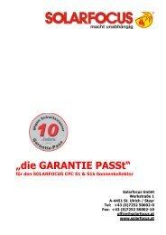Garantie-Pass - Solarfocus
