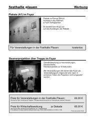 Werbung - Festhalle Plauen