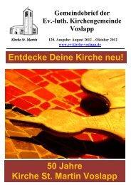 Neuer Gemeindebrief - luth. Kirchengemeinde Voslapp