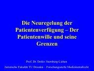 Prof. Dr. Sternberg-Lieben - Evangelische Akademie Meissen