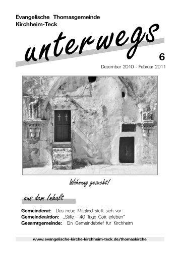 Gemeindebrief 6/10 - Evangelische Kirche Kirchheim u. Teck