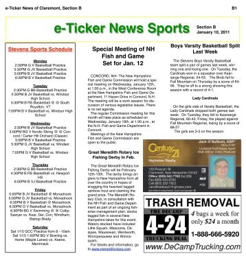 dec 13 Section B (pages) - e-Ticker News of Claremont, NH