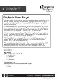 Elephants Never Forget - Literacy Planet
