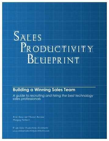 Building a Winning Sales Team - Sales Productivity Architects