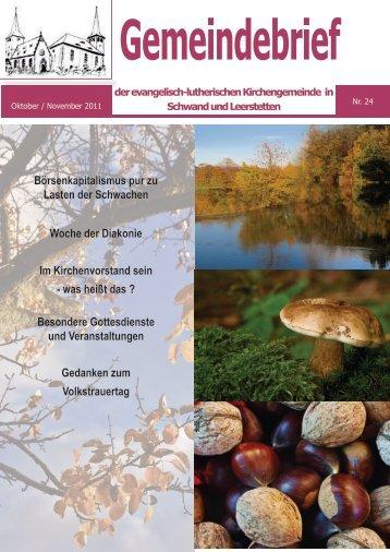 Oktober / November 2011 - Evang.-Luth. Kirchengemeinde Leerstetten