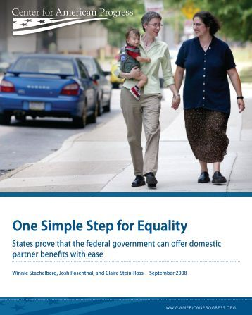 One Simple Step for Equality - Center for American Progress