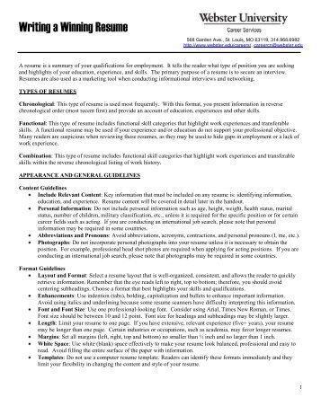 school of education resume outline webster university
