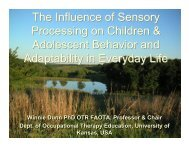 The Influence of Sensory Processing on Children & Adolescent ...