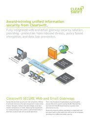 Award-winning unified information security from Clearswift.