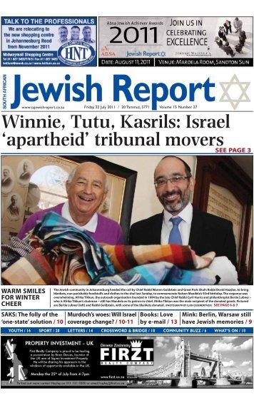 Winnie, Tutu, Kasrils: Israel 'apartheid' - South African Jewish Report
