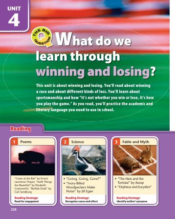 What do we learn through winning and losing? - Texas ESL for ...