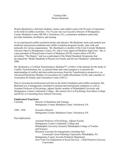 Winnie - Pennsylvania Divorce Mediation