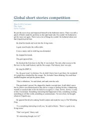 March winning stories 2012 - Global Short Story Competition