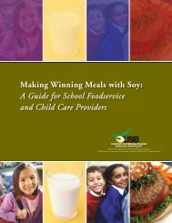 Making Winning Meals with Soy - Soyfoods Association of North ...