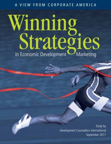 Winning Strategies in Economic Development Marketing