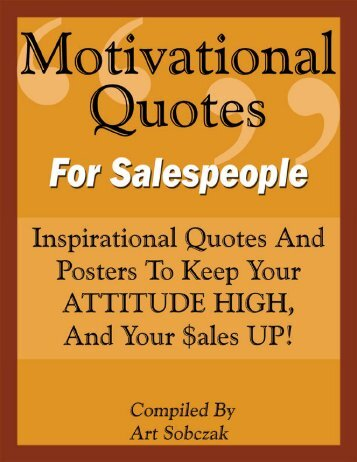 Motivational Quotes For Salespeople - Business by Phone