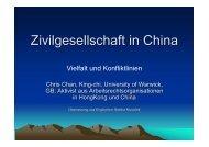 Zivilgesellschaft in China - Evangelische Akademie Meissen